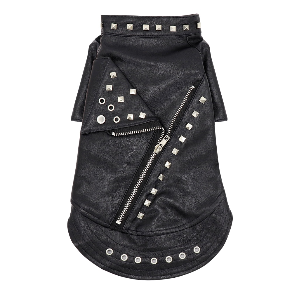 Black Leather Jacket for Cats
