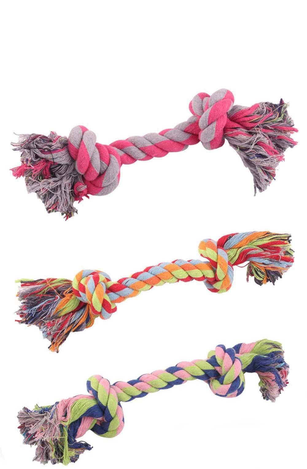 Colorful Cotton Dog Rope Toy