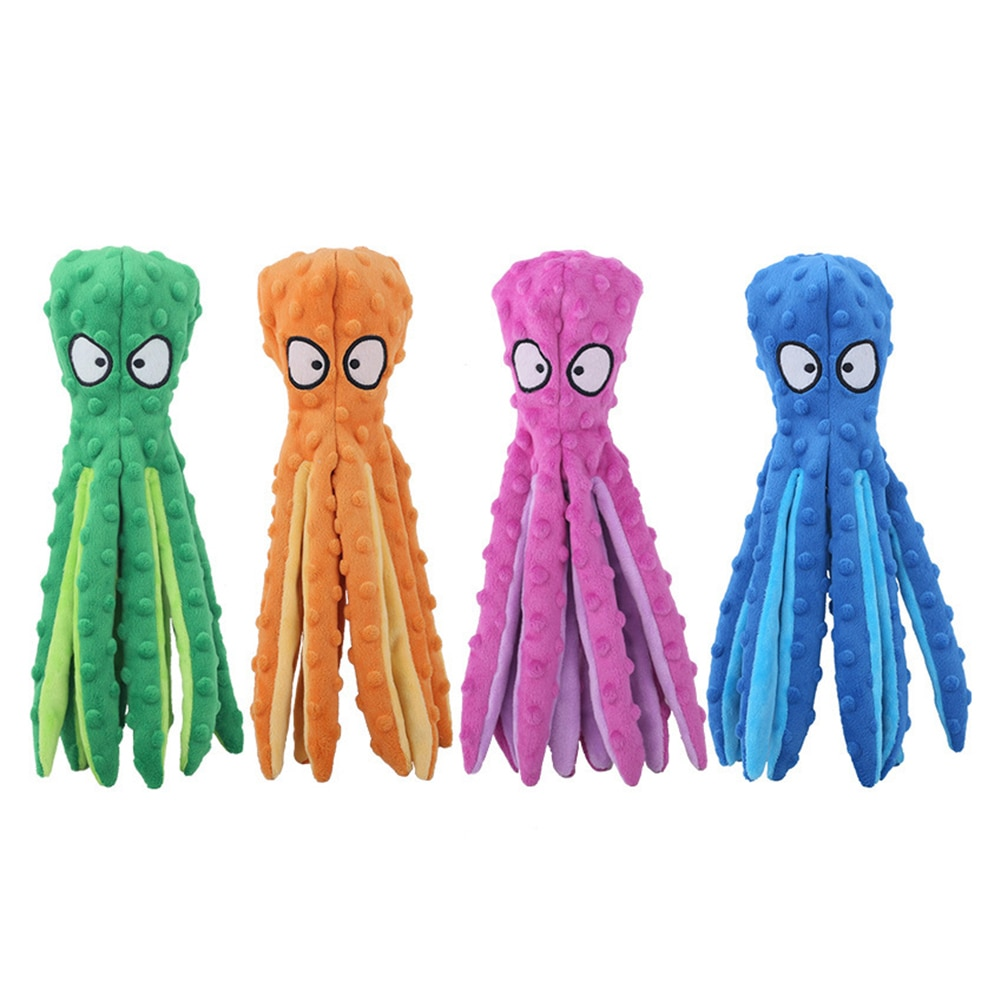 Squeaky Octopus Stuffed Dog Toy