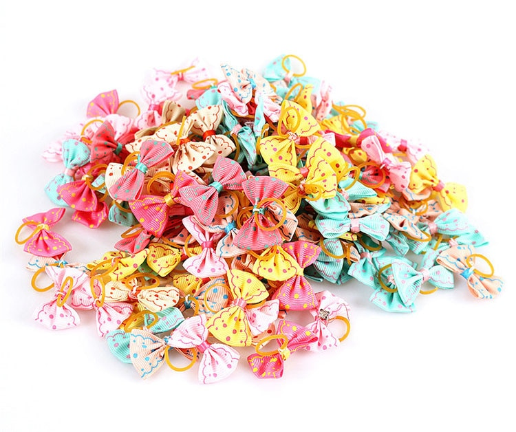 Colorful Small Hair Bows Set for Cat and Dog
