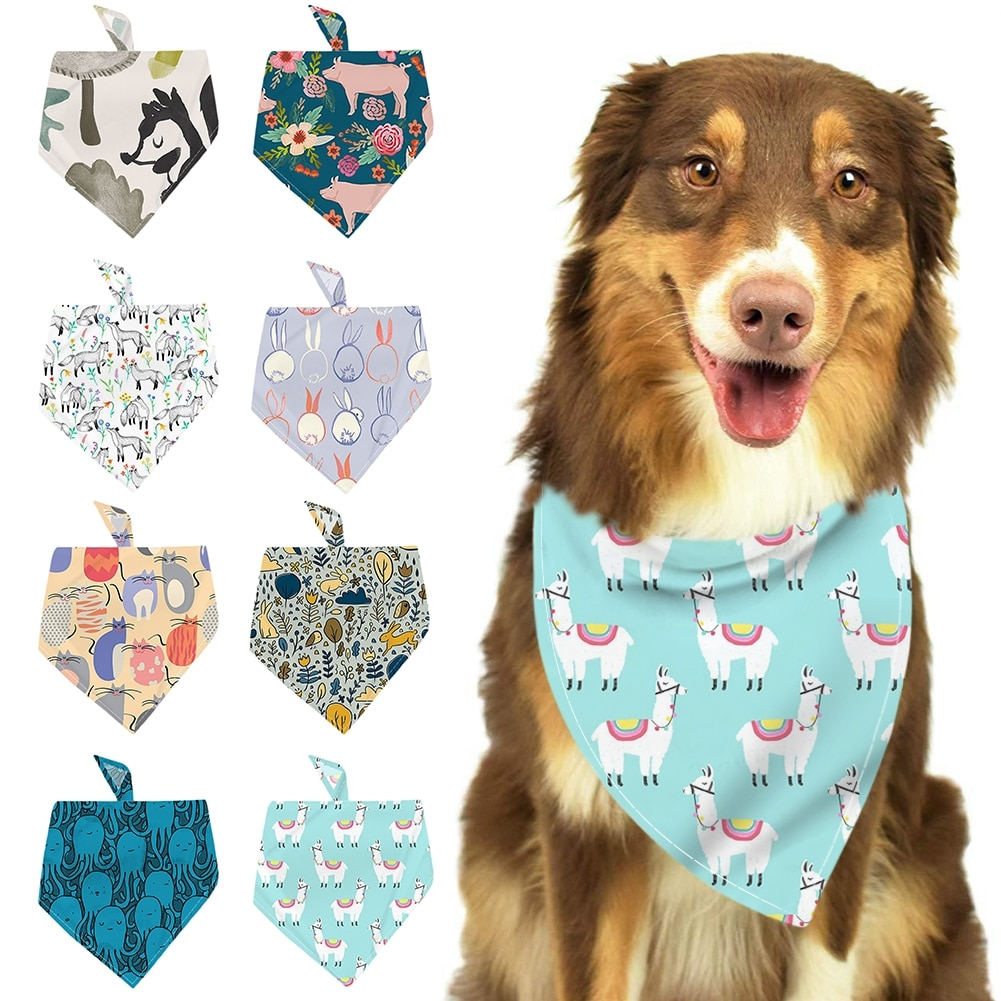 Colorful Printed Dog Scarf