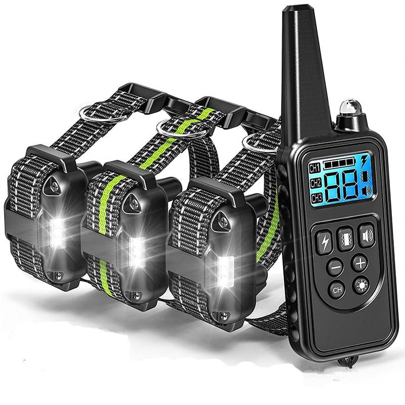 Rechargeable Dog Training Collars Set