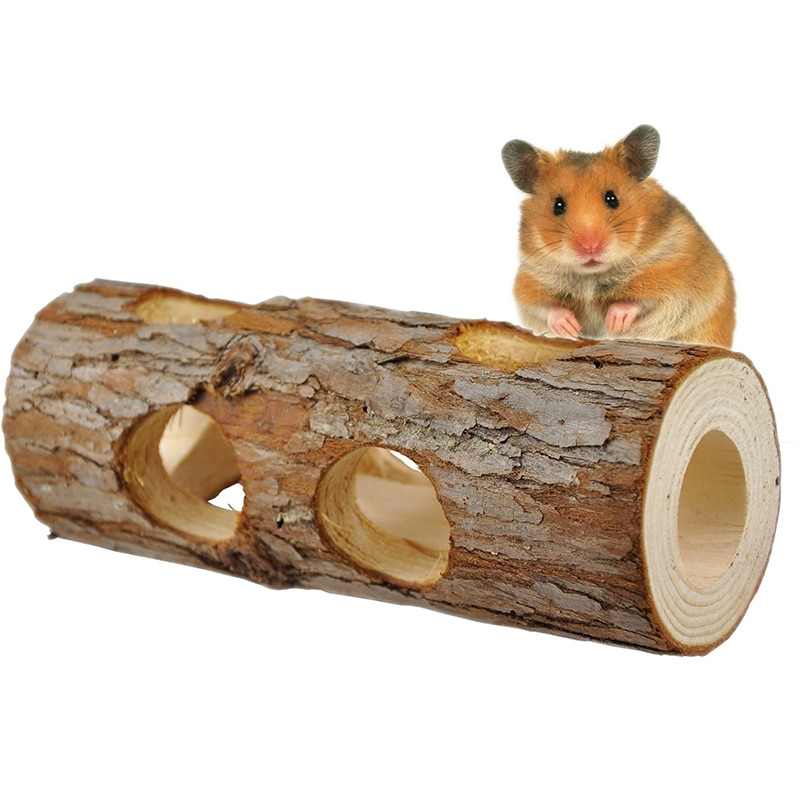 Wooden Tunnel for Small Pets