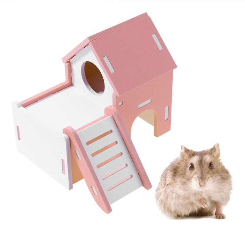 Eco-Friendly Wooden Hamster House