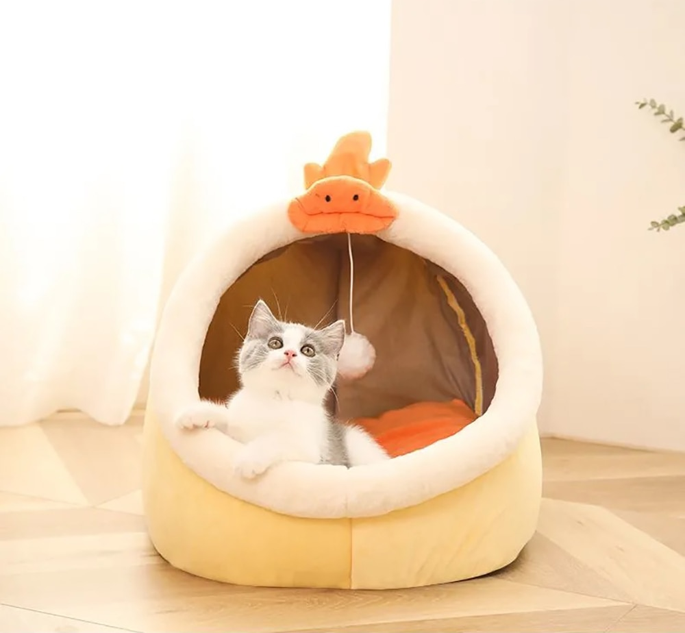 Cats Warm Basket Bed