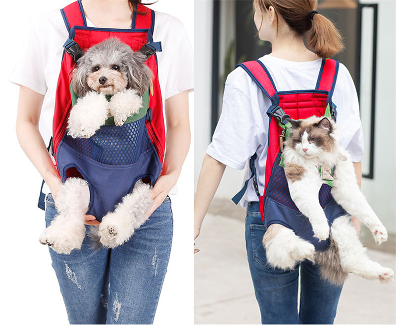 Pets Striped Canvas Carrier Backpack