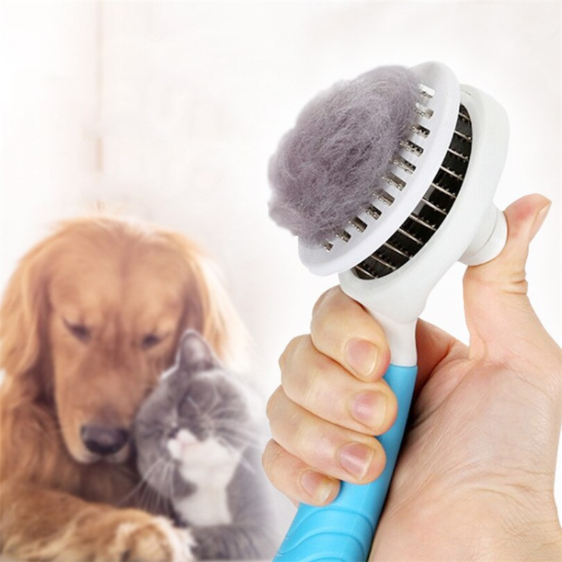 Self Cleaning Hair Shedding Dog Comb